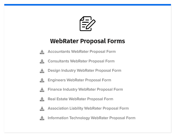 WebRater Proposals screengrab